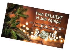 Yvan Belaieff and his team wish you a wonderful new year filled with abundance, joy and treasured moments. May 2019 be your best year yet!